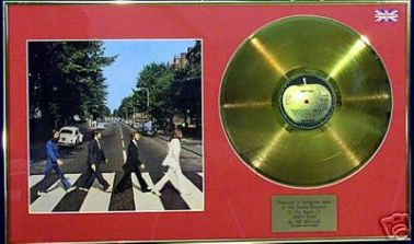 THE BEATLES -  Abbey Road - 24 Carat Gold disc & cover
